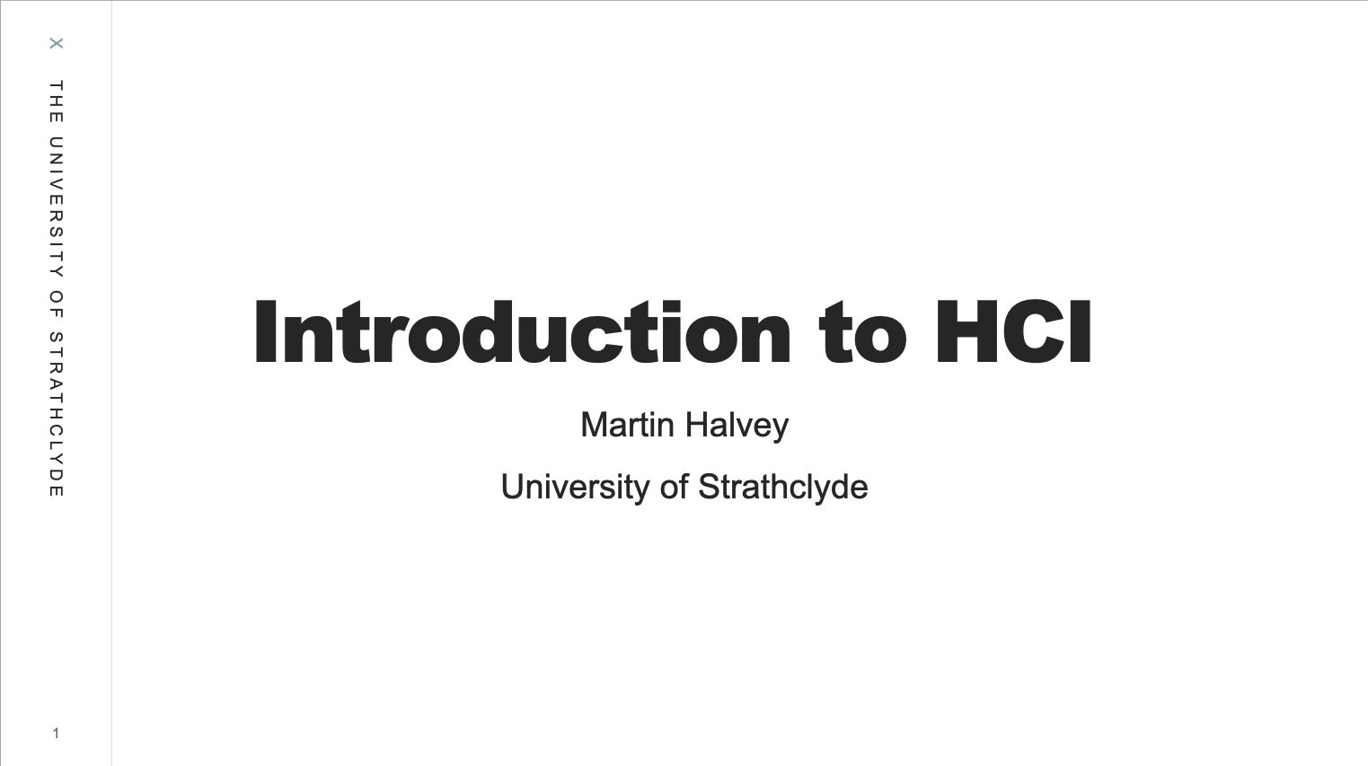 Introduction to HCI